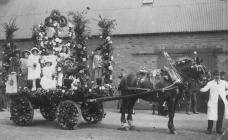 Llangollen. May Queen parade