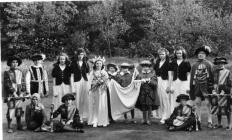 Llangollen. May Queen and attendants