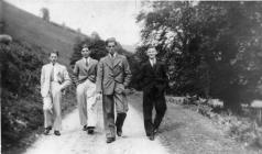 Jack Jones, Harry, Joe Evans, George walking in...