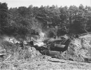 Mail train crash near Llangollen in September 1945