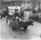 Llangollen. 1953 May Day float