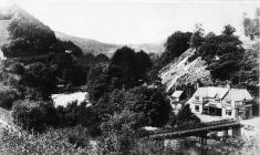 Llangollen. View of the Second Chain Birdge and...