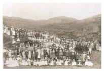 The Tabernacl's tea party, Porthmadog, c.1910