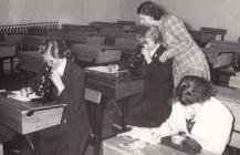 Biology Class Ysgol Brynhyfryd Rhuthun, 1955,