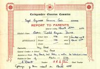 Adroddiad Ysgol Catrin Tudfil Beynon Davies 1956