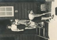 Llangrannog camp, girls' cabins