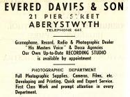 Hysbyseb Evered Davies & Son [Saesneg]