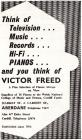 Victor Freed pianos advertisement