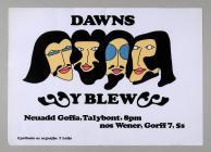 Poster i gig 'Dawns Y Blew', 1967