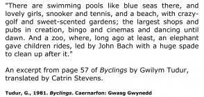 Disgrifiad o wersyll gwyliau Butlins Pwllheli [Saesneg]