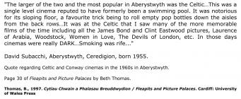 David Subacchi, Aberystwyth ganed 1955 [Saesneg]