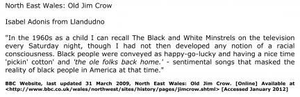 Isabel Adonis from Llandudno recalls the Black...