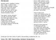 Phil Bennett - poem by Ceri Wyn Jones [Welsh]