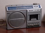 SHARP GF-1740 radio/cassette tape recorder