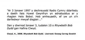 History of the beginnings of Radio Cymru [Welsh]