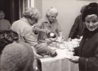 Making the tea, Cribyn Church Hall c1975
