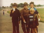 Lance Maher mewn taith geredded ym mharc Caerfyrddin, 1975