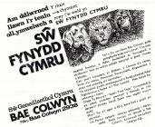 Colwyn Bay Zoo advertisement [Welsh]
