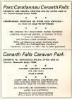 Hysbyseb Parc Carafannau Cenarth Falls