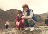 Dringo'r Wyddfa a phicnic yn Rhyd-ddu. Gwanwyn 1985