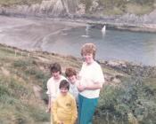 Gwyliau mewn carafan yn Abergwaun 1986