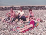 Holiday on Dinas Dinlle beach, 1982