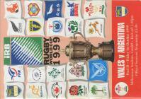 Wales V Argentina 1999 World Cup programme