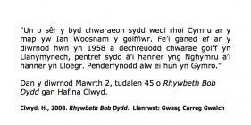 Hafina Clwyd recalls Ian Woosnam the golfer ...