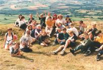 Picnic during walking trip, 1996