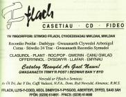 Fflach record company advertisement [Welsh]