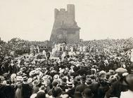 A ceremony in the Gorsedd Circle at Aberystwyth...