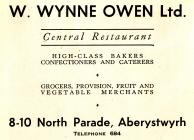 Hysbyseb Central Restaurant, Aberystwyth [Saesneg]