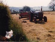 Harvest at Carmarthenshire farm, 1980