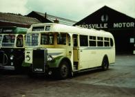 Crosville bus in Bangor depot, 1958