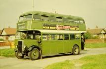 Bws dwbwl decker Crosville yn Rhyl, 1958