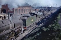 Steam trains in Cardiff 1950s