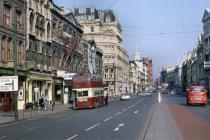 Trolleybus Heol Santes Fair, Caerdydd 1968