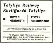Hysbyseb ar gyfer Rheilffordd Talyllyn