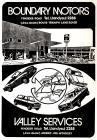 Hysbyseb Boundary Motors [Saesneg]