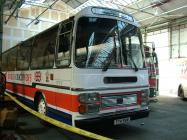 Volvo B58 bus at the Swansea Bus Museum