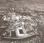 Aerial photograph of Cardiff, 1980s