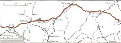 Yr A40 yn ne Cymru, 1980au