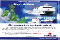Stenna Line advertisement [Welsh]