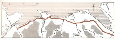 The A55 route [Welsh]