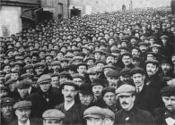 Mass meeting at Tonypandy during the Cambrian...