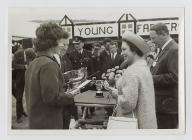 Megan Jones meeting Princess Margaret at the...