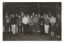 Members of Pontsian Y.F.C. public speaking...