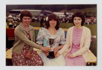 Mair Jones, Sian Owen and Linda Morgan winning...