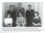 Llanfarian Y.F.C. quiz team, 1950/1