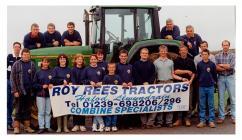 Members of Llandygwydd Y.F.C. in a sponsored...